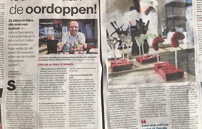 Audinc gehoorbescherming in het Eindhovens Dagblad!